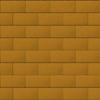 Прямоугольник 40 мм желтый гладкая