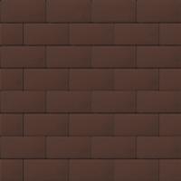 Прямоугольник 40 мм коричневый гладкая