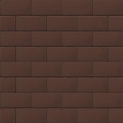 Прямоугольник 60 мм коричневый гладкая