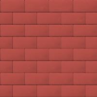 Прямоугольник 40 мм красный гладкая