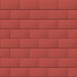 Прямоугольник 60 мм красный гладкая